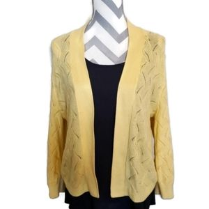 89th & Madison soft yellow pull on cardigan XL
